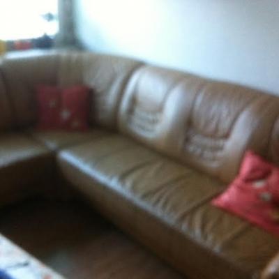 echtleder eck sofa wie neue abzugeben - thumb