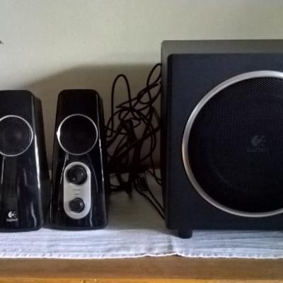 Nochmal günstiger -Lautsprechersystem Logitech Z523 PC wie NEU - thumb