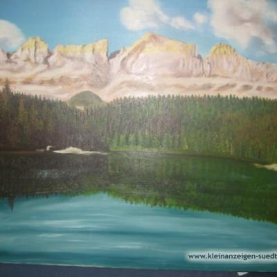 Karrersee auf Leinwand - thumb