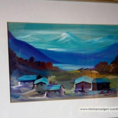 Dorf mit Berglandschaft - thumb