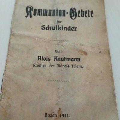 Antikes Komunion Gebetsbuchlein für Schulkinder - thumb