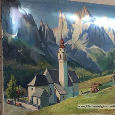 Landschaftsbild Öl auf Leinen - thumb