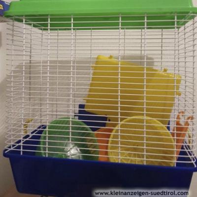 Hamsterkäfig + Zubehöre + kleinkäfig zum Transport - thumb