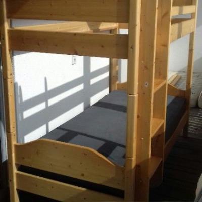 Stockbett aus Holz - thumb