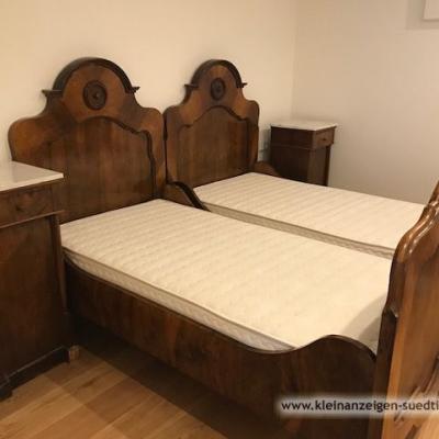 Set Bett Jahrhundertwende mit neuen Lattenrosten - thumb