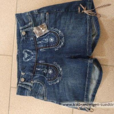 Kurze Jeans Trachtenhosen - thumb