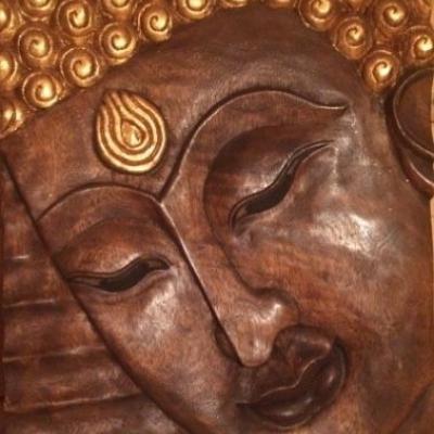 Buddha Holzbild - thumb