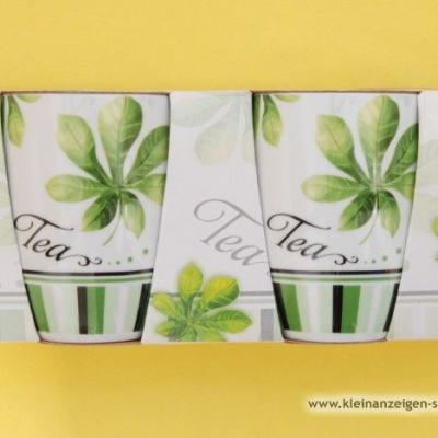 Grün/weiße Teetassen - thumb