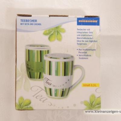 Grün/weiße Teetasse - thumb