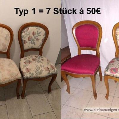 Verschiedene elegante Stühle/Sessel zu verkaufen - thumb