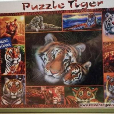 Puzzle 1000 Stück Tiger - thumb