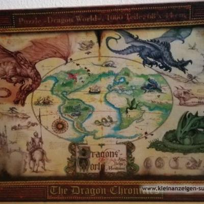 Puzzle 1000 Stück Dragon World - thumb