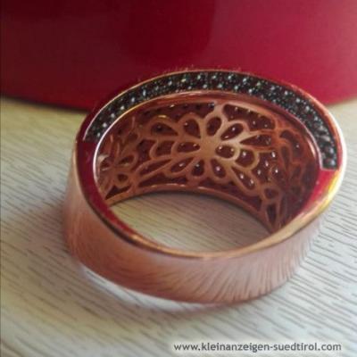 Rhodinierter Modeschmuckring - thumb