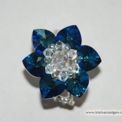 Ring aus Swarovski Herzen - thumb