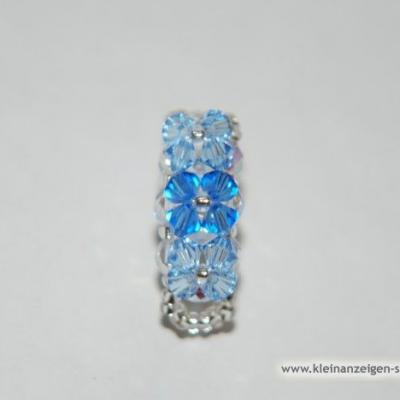 Blauer Swarovski Ring - thumb