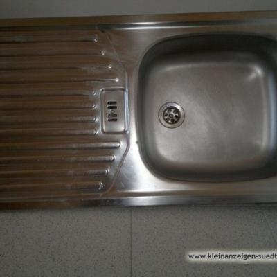 INOX Küchenspülbecken, 86 x 43 cm, mit Zubehör - thumb