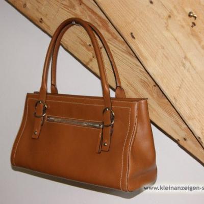 Elegante Handtasche farbe Cognac /Preis auf Wunsch - thumb
