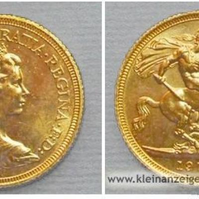 Gold-MÜNZE Pfund Sterling - thumb