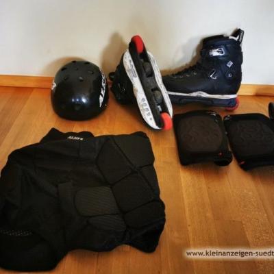 Rollerblades und Schutzausrüstung - thumb