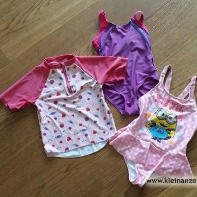 Badeanzüge und Schwimmshirt für Mädchen, Gr 98-110 - thumb
