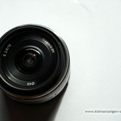 Objektiv SONY E-APS-C 16/2.8 E SEL + Filter - thumb