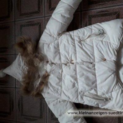 Winterjacke Mädchen weiss - thumb