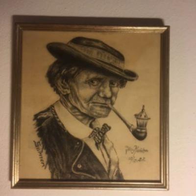 Portrait eines Sarners (Bleistiftzeichnung 1928) - thumb