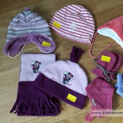 Mützen und Handschuhe für Mädchen, versch. Größen - thumb