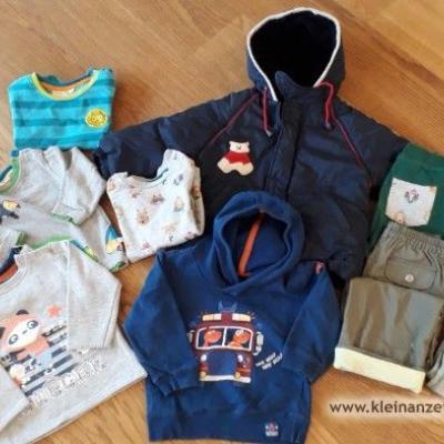 Kinderkleidung für Jungen und Winterjacke, Gr. 86 - thumb