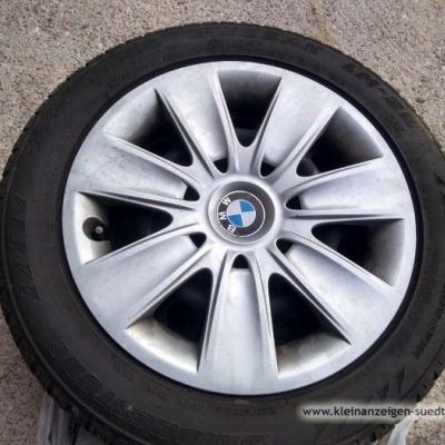 Winterreifen auf Stahlfelgen für 3er BMW - thumb