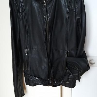 Damen-Lederjacken   1 schwarz und 1 beige - thumb