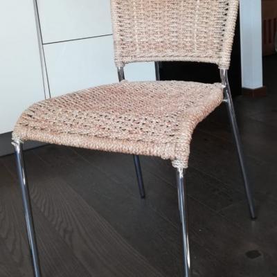 Trend-Esszimmerstühle aus Korbgeflecht günstig zu verkaufen! - thumb