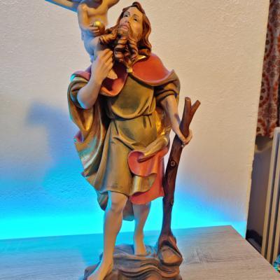 Heiliger Christophorus aus Holz - thumb