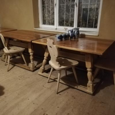 Massivholz Bauerntische und Stühle - thumb