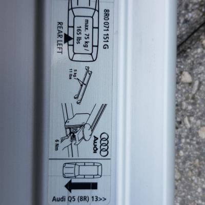 Original Grundträger-Dachträger für Audi Q5  zu verkaufen - thumb