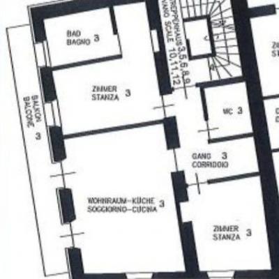 Verkaufe Wohnung historisches Zentrum Sand in Taufers 79 QM netto - thumb