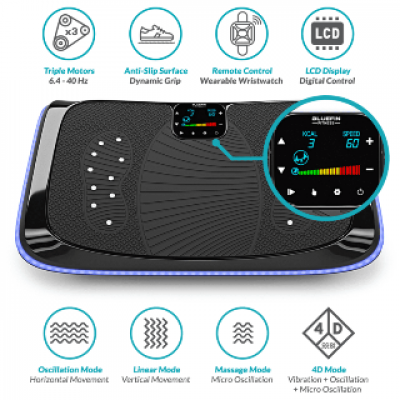 Bluefin Fitness 4D Dreifachmotor Vibrationsplatte - thumb