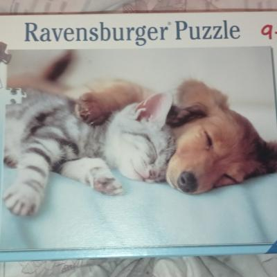 Ravensburger Puzzle Süße Träume -- Hund und Katze - thumb