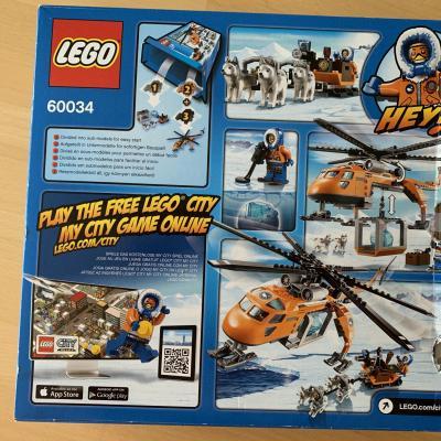 Lego City Arktis Helikopter mit Hundeschlitten - thumb