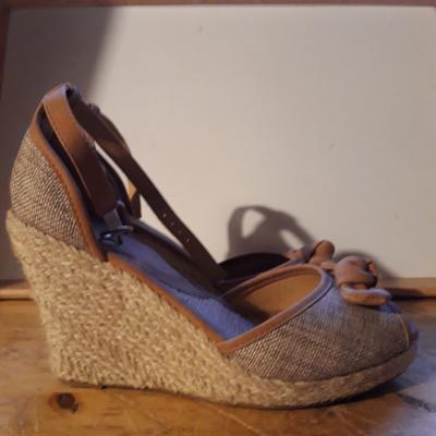 Kork-Sandalen beige Gr. 40 - thumb