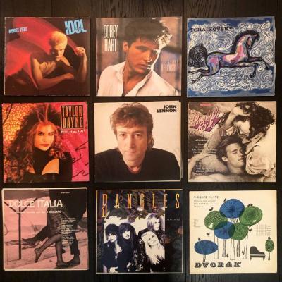 Vinyl Set 02 - Schallplatten John Lennon, Billy Idol, Bangles, Kuschel - thumb