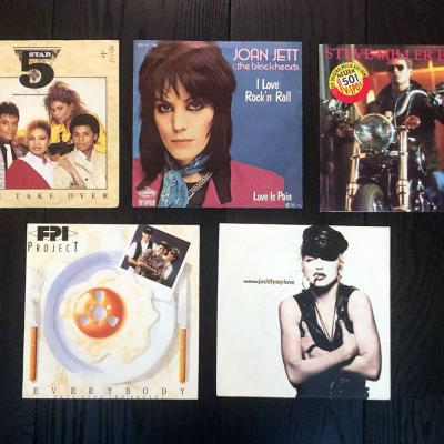 Vinyl Set 05 - Schallplatten I love Roch'n Roll, The Joker, Madonna - thumb