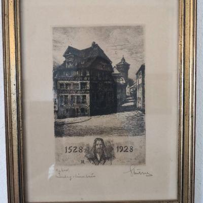 Albrecht Dürer Stich zum 400 jähr. Jubiläum original - thumb