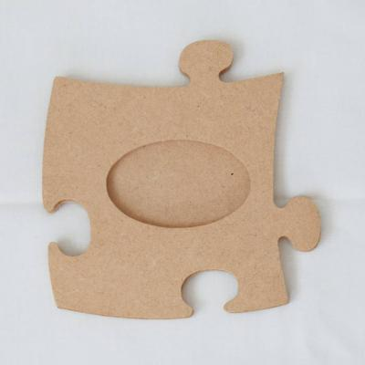 Fotorahmen Puzzle aus MDF oval - thumb