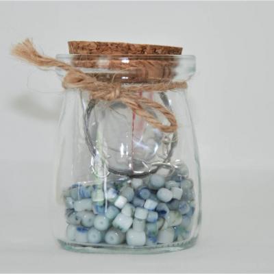 Perlen im Glas  in blau - thumb