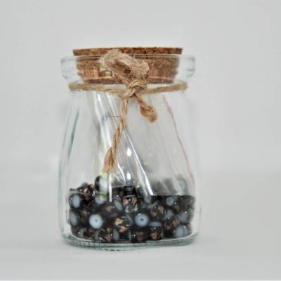 Perlen im Glas in schwarz - thumb