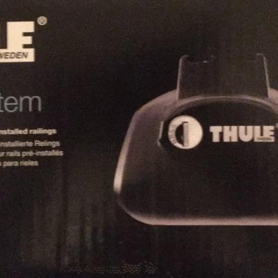 Thule Rapid System 757 Fußteile  mit Stangen - thumb