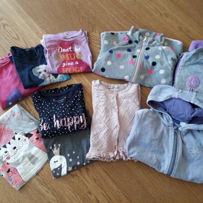 Kinderkleidung Mädchen, Gr. 110 - 116 - Mädchenpaket - thumb