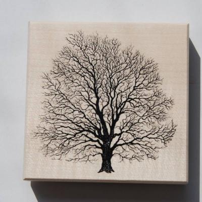 Baum Holzstempel - thumb
