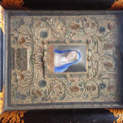 Karmelitaner Bild Klosterarbeit museales Werk aus Südtirol - thumb